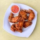 Deep Fried Chicken Wings [~$5]