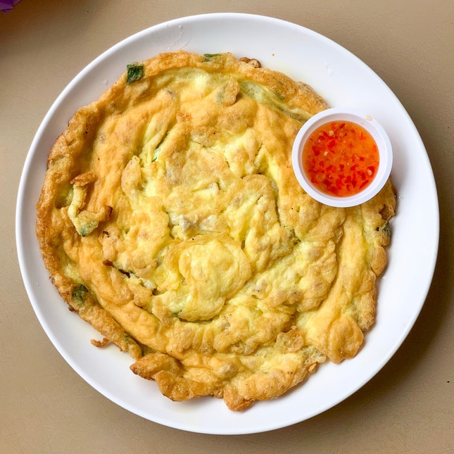 Egg Omelette w Minced Chicken [~$4.50]