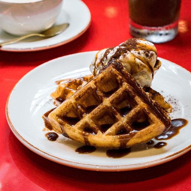 Singapore Coffee Waffles [~$18]
