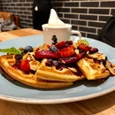 Mixed Berries Waffles