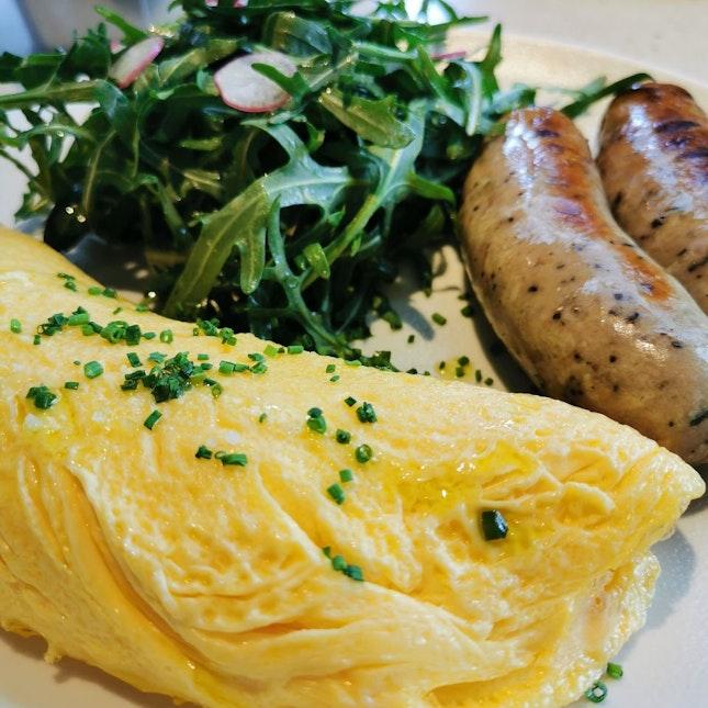Classic French Omelette with Kurobata Pork Sausage