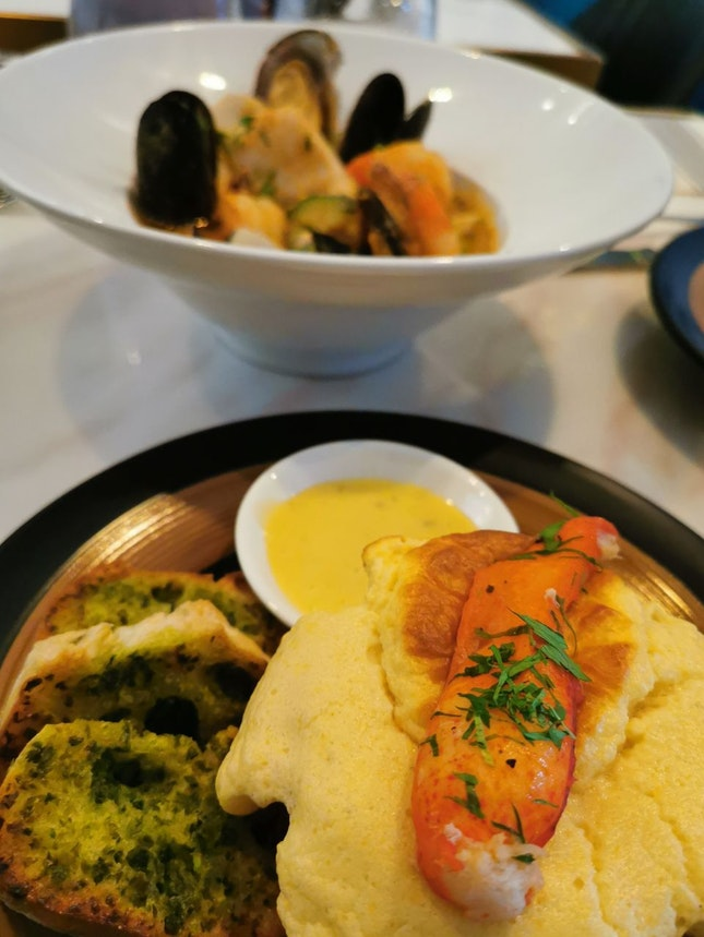 Local Catch Bouillabaisse with Lobster Souffle