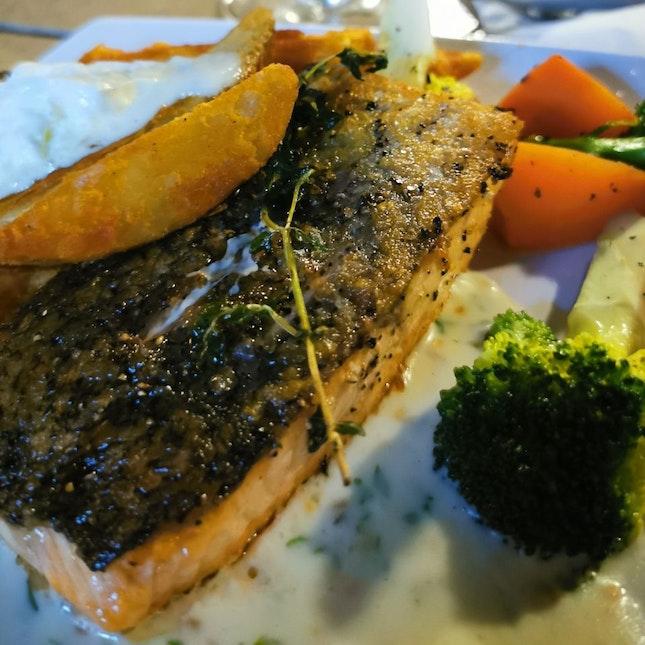 Pan-Seared Salmon Steak
