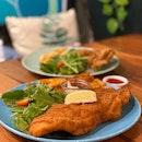 Breaded Fish and Crispy Chicken