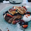 What a breakfast joy | soufflé pancake from @theotherhalfcafe | #brunch #pancake #burpple