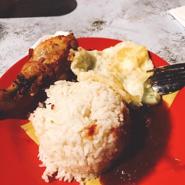 Nasi Lemak Ayam Goreng (RM5)