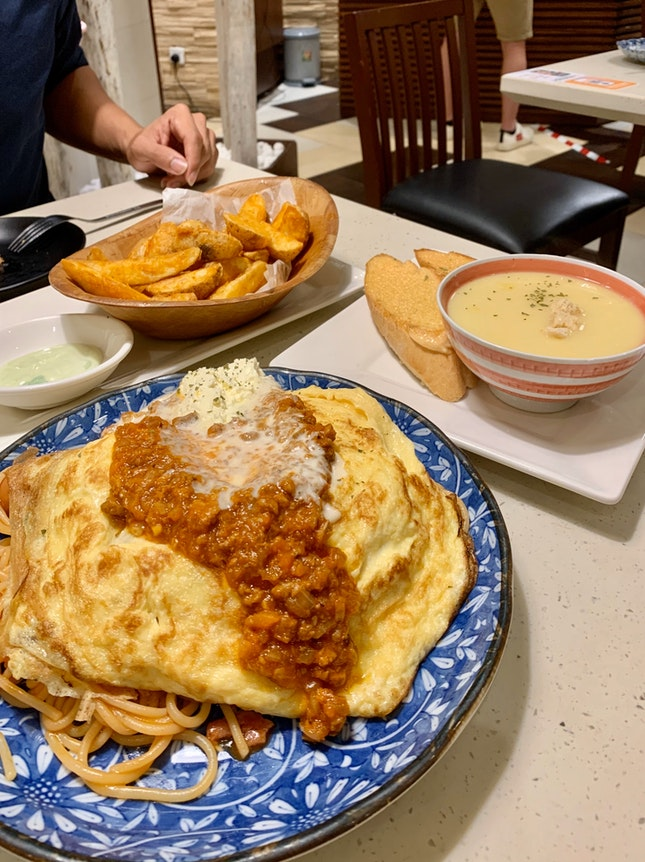 🍝 Neopolitan Pasta with Soup Set and Wedges