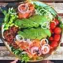 Salmon Salad With (WHOLE!) Avocado