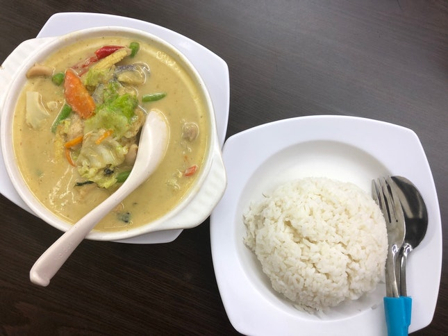 Green Curry Chicken with Rice