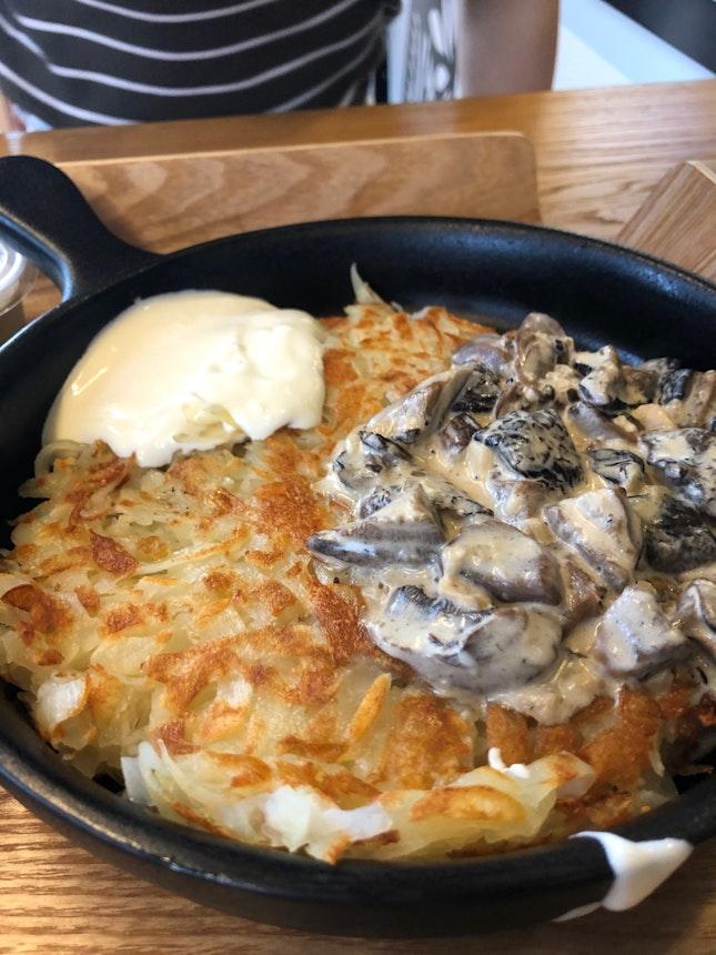 Original rösti + mushrooms