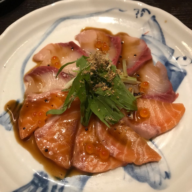 Love Love The Salmon Hamachi Carpaccio
