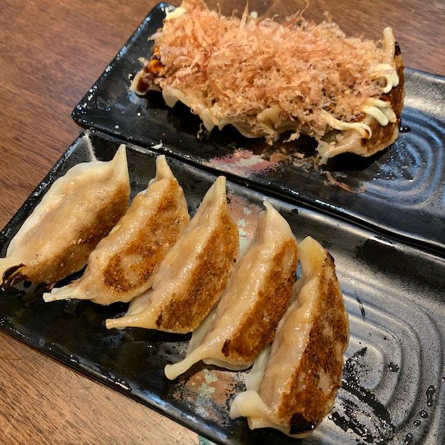 Pork Gyoza + Takoyaki Gyoza