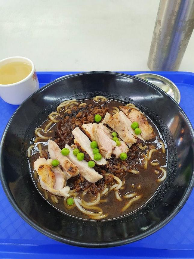 Chicken Cutlet Jjajangmyeon