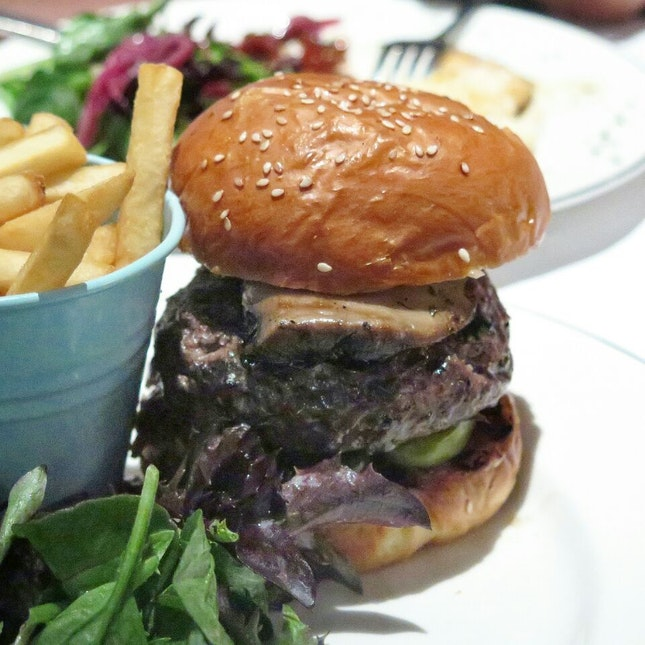angus burger ($21.95) @ greenwood fish market