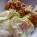 Lemon Chicken Cutlet Rice + Fried Egg   $5