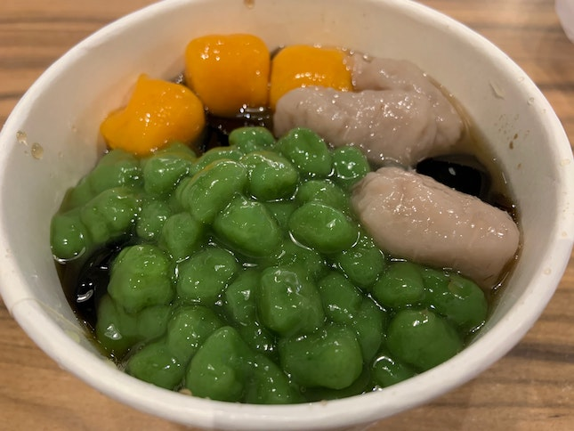 Grass Jelly With Toppings | $5.40