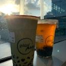 Matcha Latte + Chrysanthemum Tea | $8.00