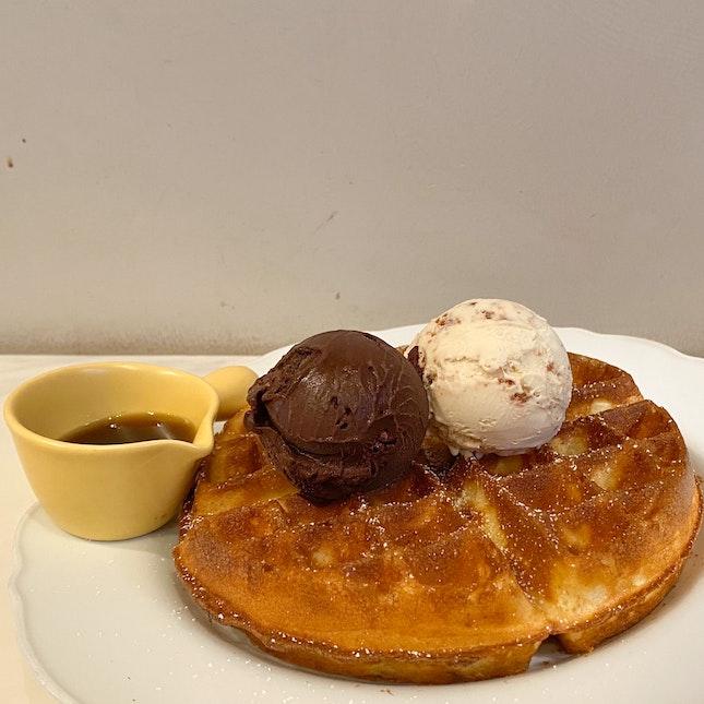 Ice Cream Waffle   $15