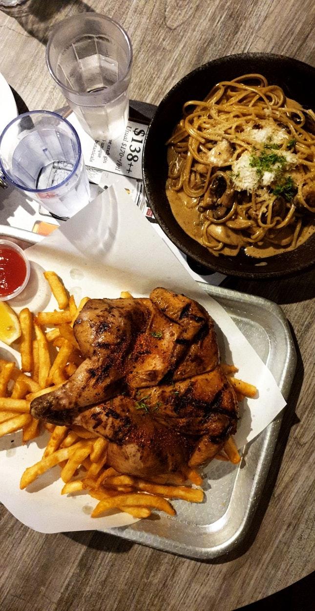Cajun Chicken & Truffle Mushroom Linguine