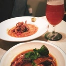 Chilli Crab Pasta & Salmon Royale