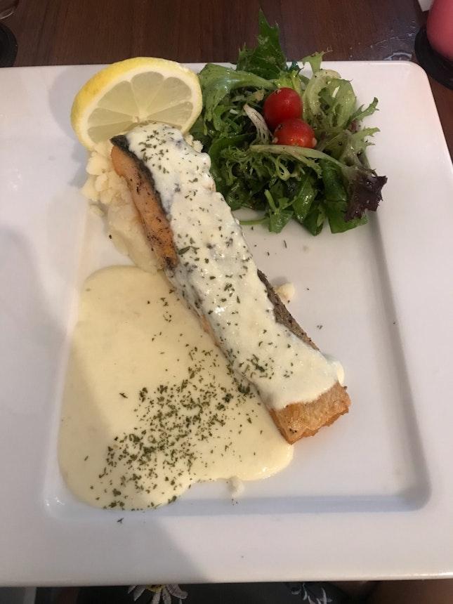 Crispy salmon ($22.90)