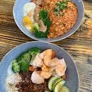 Chicken Rice and Chili Crab Pasta