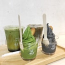 Matcha & Black Sesame Soft Serve