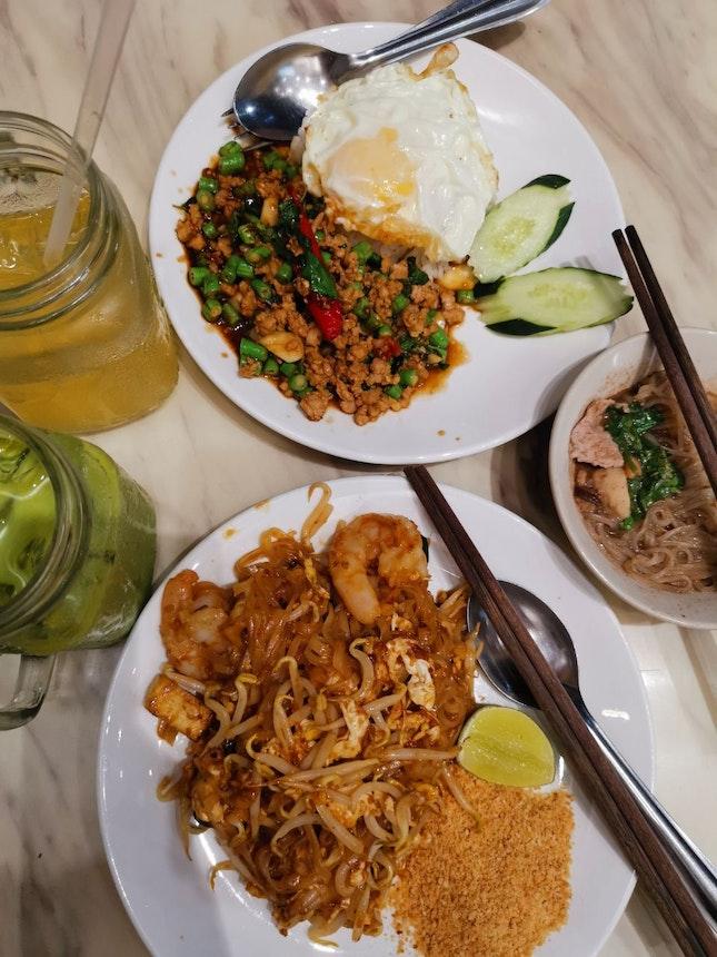 Basil Pork Rice & Phad Thai