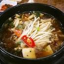 Daehwa Vegetarian's ttukbaegi bulgogi (뚝배기불고기) || Fusionopolis, Singapore.