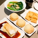 BBQ Pork Buns, Cheong Fun, Fried Beancurd Skin Roll, Wonton Soup