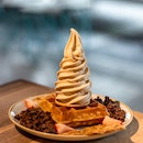 Earl Grey Lavender Soft Serve Single Waffle