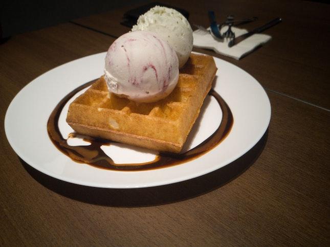 Waffle W Ice Cream