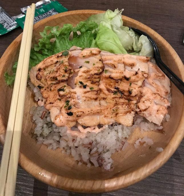 Mentaiko Salmon Rice Bowl