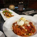 Spaghetti Burrata and King Oyster Mushroom