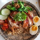 Very nice roasted chicken rice.