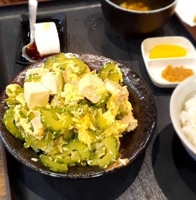 Favourite Bittergourd Tofu Pork Dish!