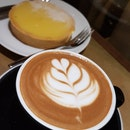 Homemade Lemon tart & Mocha