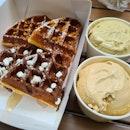 Beyond~half Waffle + Ice-cream
