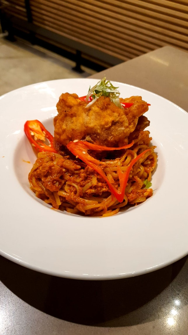 Chilli Softshell Crab Pasta