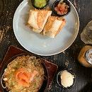 burrito + salmon Rosti