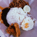 nasi lemak (chicken wing set)