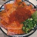 Salmon Sashimi Don (??Can't rmb)