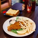 Fish & Chips with choice of 2 sides ($12.90)