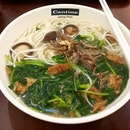 🍃Vegan noodles soup with spinach and mushrooms at Cantine Foodcourt, Jurong Point Shopping Centre.