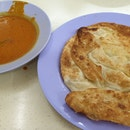 Bomb Cheese Prata, Garlic Egg Prata With Fish Curry