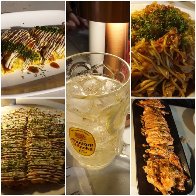 Okonomiyaki, Grilled Squid