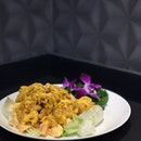Golden Salad Prawn $18 (S) $24 (M) $28 (L) .