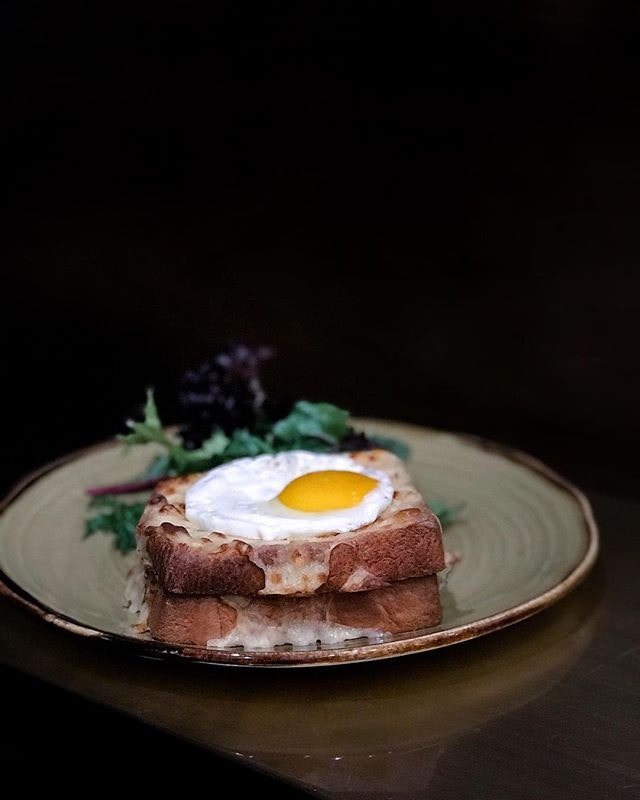 Croque-Madame ( $14 ) for brunch on a quiet Sunday ~ .