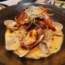 Seafood Laksa Pesto (26sgd)