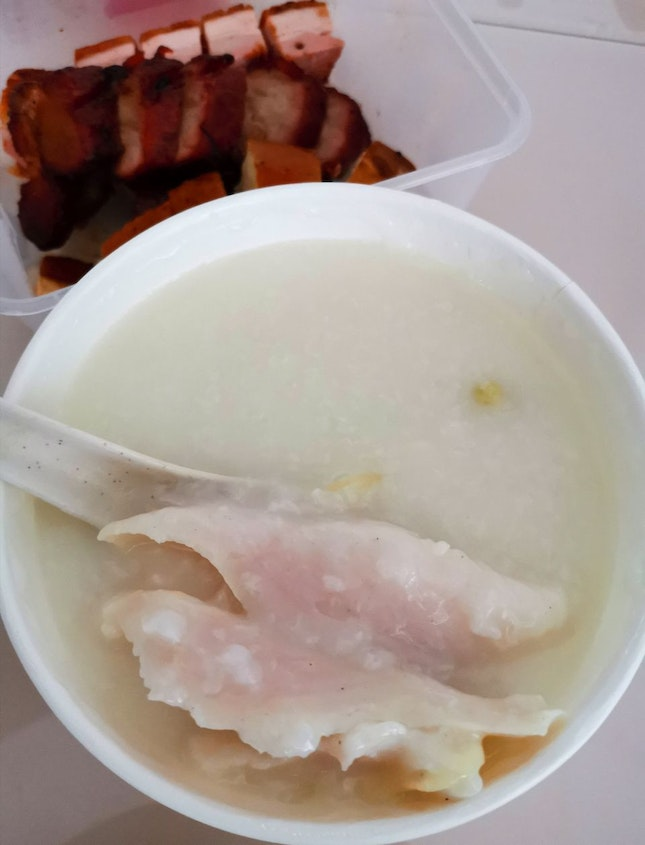 Congee With Fresh Fish Slices (9sgd)